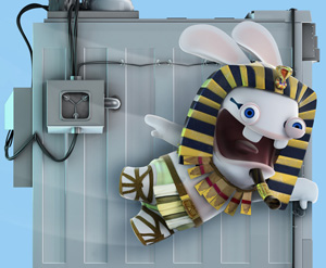 Raving Rabbids Travel In Time - Booth